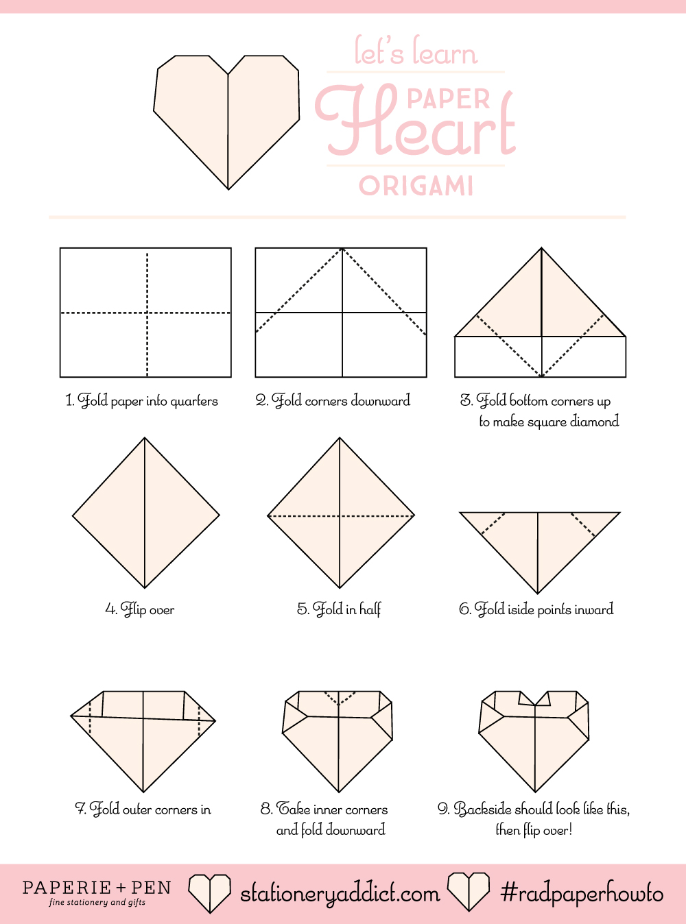 Lets learn paper heart origami jeuxipadfo Image collections